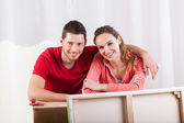 Marriage during removal — Stock Photo