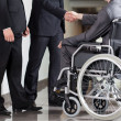 Disabled man and boss — Stock Photo #48962943
