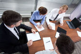 Co-workers during meeting — Stock Photo