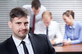 Businessman in the office — Stock Photo