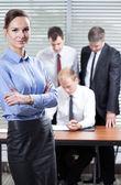 Employees doing their job — Stock Photo
