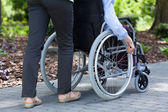 Person on a wheelchair — Stock Photo