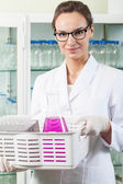 Chemist working in laboratory — Stock Photo