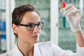 Test tube with chemical liquid — Stock Photo