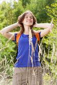 Girl in countryside — Foto de Stock