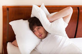 Exhausted man in morning — Stock Photo