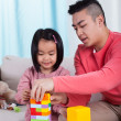 Family playing with blocks — Stock Photo #49352523