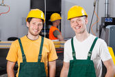 Factory workers at production area — Stock Photo