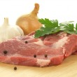 Pieces of raw pork meat — Stock Photo #49371137