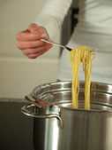 Boiling spaghetti — Stock Photo