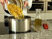 Preapring pasta — Stock Photo