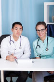 Multi-ethnic doctors — Stock Photo