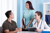 Medical consultation — Stockfoto