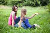Girls admire the view — Stock Photo