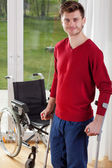 Capable disabled man standing  — Stock Photo