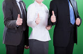 Workers showing okay gesture — Stock Photo