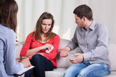 Professional marriage therapy — Stock Photo