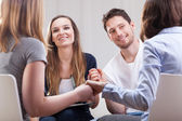 People having good time on therapy — Stock Photo