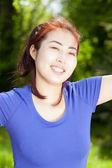 Feliz mujer asiática — Foto de Stock