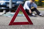 Driver after car crash — Stock Photo