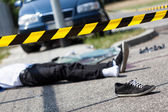 Male victim of car accident — Stock Photo