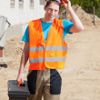 Worker at construction site — Stock Photo #50025673