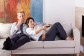 Couple relaxing after long day — Stock Photo