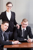 Portrait of a young business team — Stock Photo