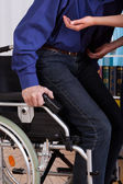 Disabled gets up of the truck — Stock Photo