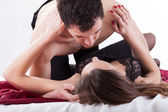 Couple in erotic situation — Stock Photo