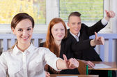 Students with okay gesture — Foto de Stock