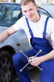 Repairman at work — Stock Photo