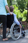 The nurse with disabled woman — Stock Photo