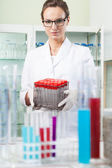 Scientist before doing experiment — Stock Photo