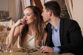 Man wants to kiss his lady — Stock Photo
