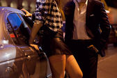 Man picking up a prostitute — Stock Photo