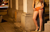 Prostitute waiting for client — Stock Photo