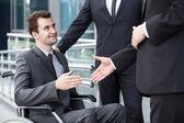 Business partners shaking hand — Stock Photo