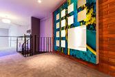 Entresol in modern flat — Zdjęcie stockowe