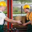Logistics workers at storehouse — Stock Photo #50943313