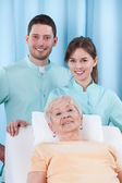 Physiotherapy in geriatrics — Stock Photo