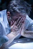 Distraught man — Stock Photo