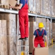 Man working at height in warehouse — Stock Photo #51289939