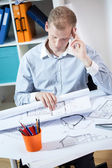 Architect after long day — Stock Photo