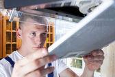 Handyman during work — Stock Photo