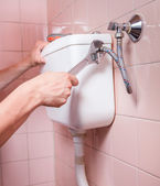 Toilet reparation — Stock Photo