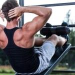 Man training on gym — Stock Photo #51491317
