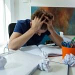 Tired student before exam — Stock Photo #51539523