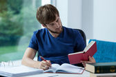 Student learning for exam — Stock Photo