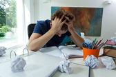Estudiante cansado antes del examen — Foto de Stock